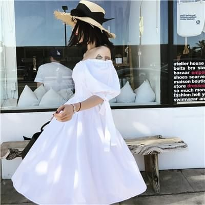 纯色连衣裙