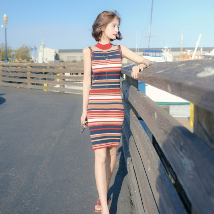 夏天穿针织怎么了,不仅凉快还显身材屋顶秧田工装